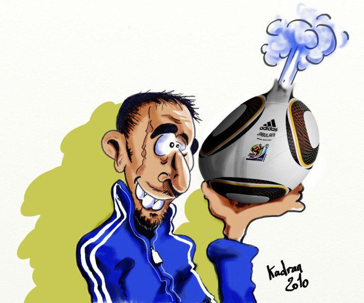 Franck Ribeiry caricature