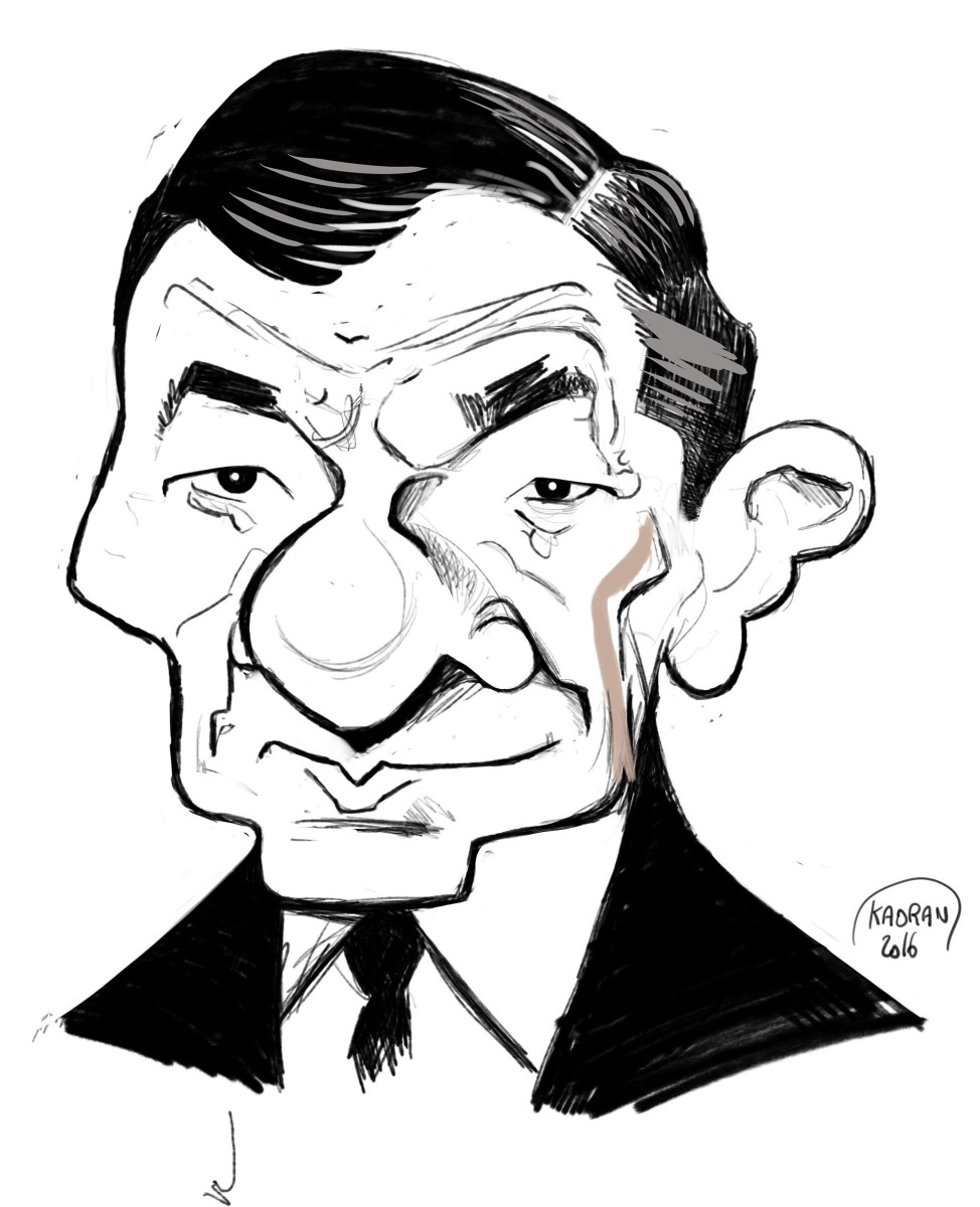 Robert Dalban, caricature making off (Les Tontons Flingueurs)