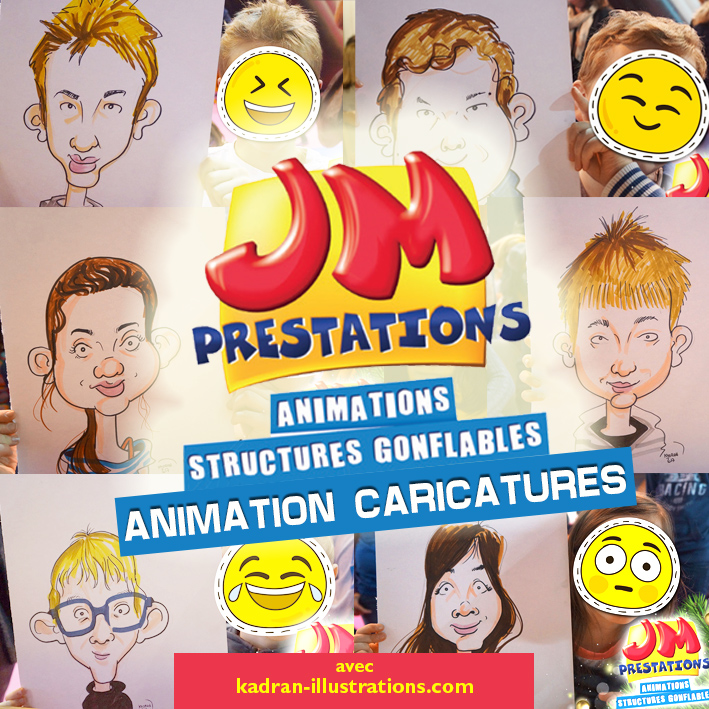 Animation caricatures avec JM PRESTATIONS