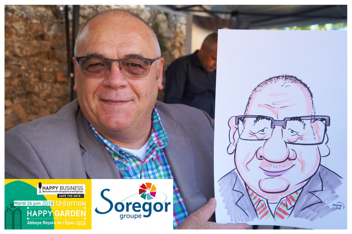 Animation caricatures par Soregor groupe au Happy Business