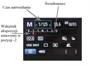 Wyświetlacz LCD w aparacie Canon EOS 550D