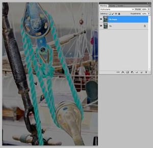 Tryb mieszania warstw Photoshopie - Exclusion (wykluczenie)
