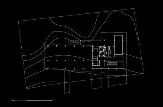 Contemporary Architecture of Iporanga House, Contemporary Architecture, Iporanga House, ground level plan,