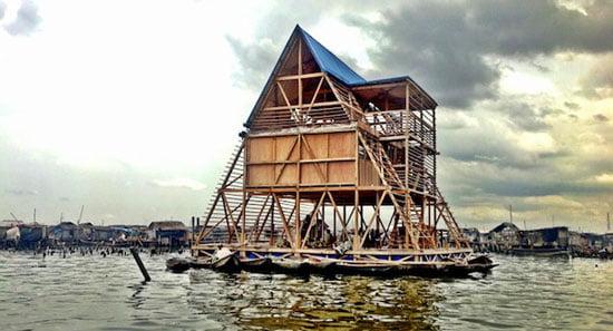 Floating School, Makoko, Nigeria, Architect Kunle Adeyemi, NLE,