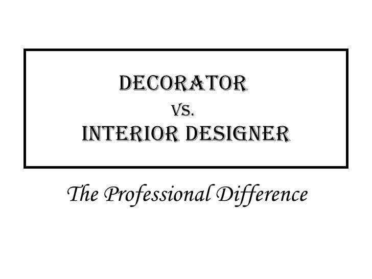 designer vs decorator,