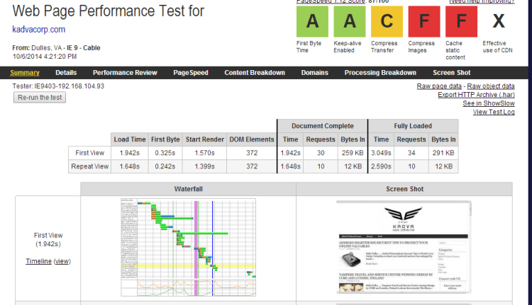 web-page-performance-test