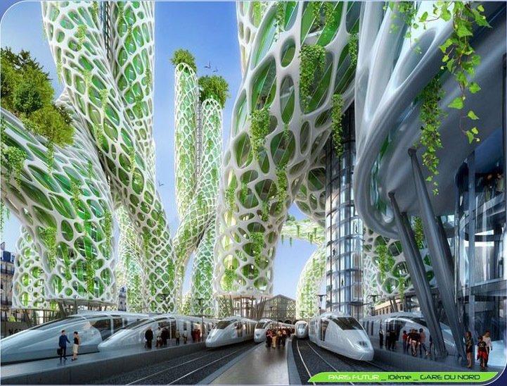 futuristic smart city vision,
