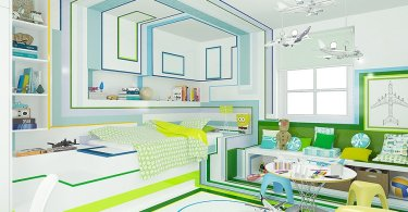 geometric patterns in interior design, child bedroom interior design,