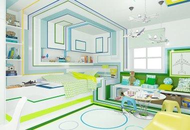 geometric patterns in interior design, child bedroom interior design,