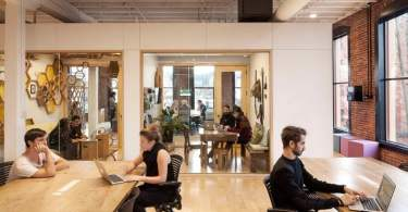distributed work, Airbnb, airbnb office interior, Portland, Office Interior, office space Design, open space office, Freedom to Employees,