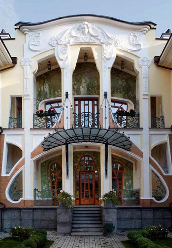 art nouveau architecture features,