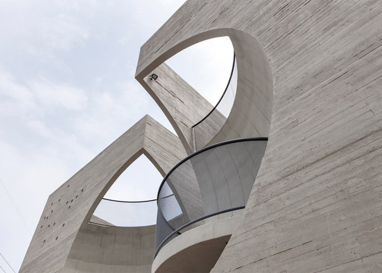 Two Moon Junction Twin House Architectural Designs Concave Exposed Concrete Texture Facades By Ar. Moon Hoon, Seoul, South Korea (33)