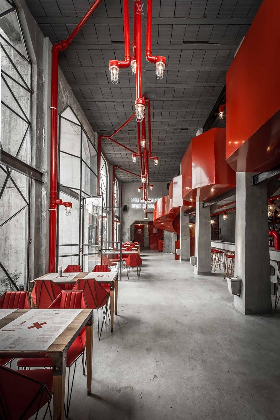 Industrial Interior Design: Vintage Industrial Style Interior Design Of Brewery In