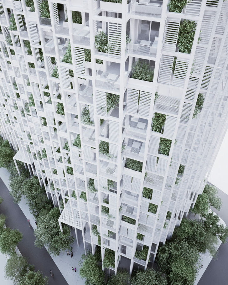 the design seeks to challenge conventional building techniques and applications
