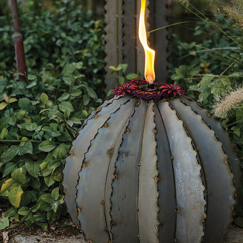 Golden Barrel Cactus garden lamp 2