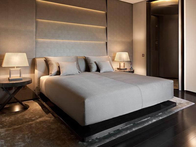 bedroom decoration with mood lighting