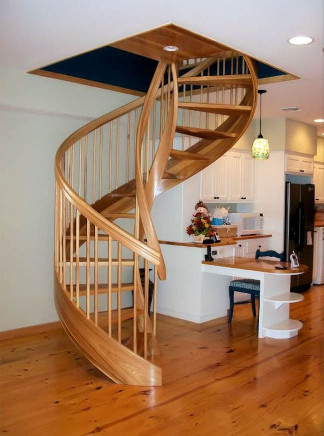 Wooden-spiral-staircase-design-ideas