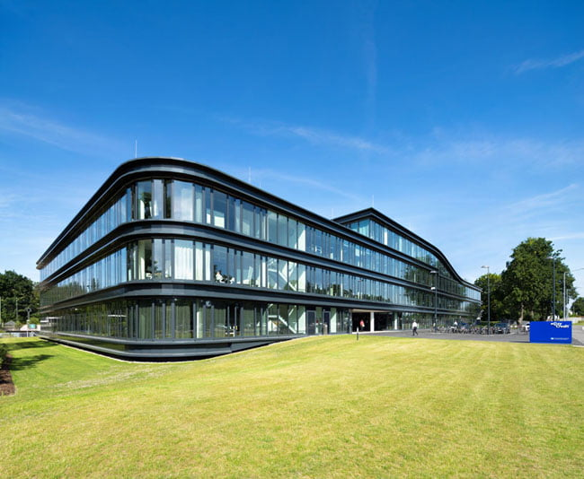 external view of the building of team bank's new german HQ