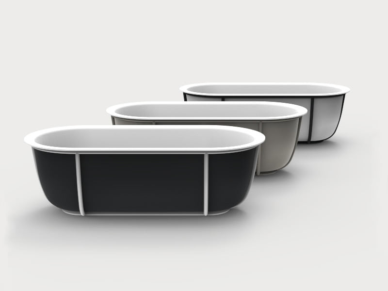 Cuna small bathtub by patricia urquiola, agape product