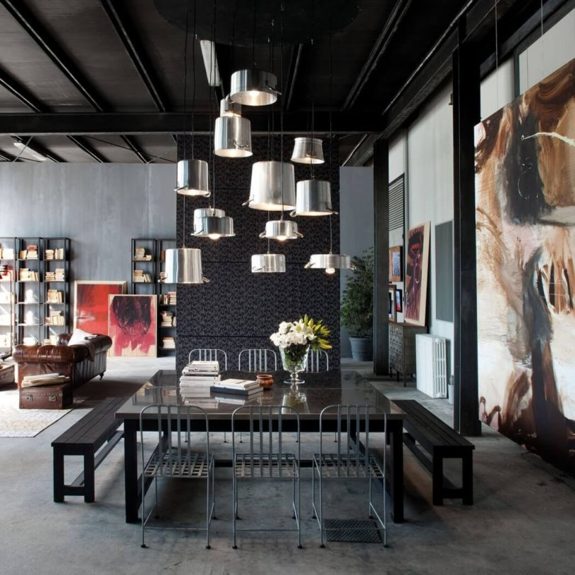 color black of living room furniture and ceiling