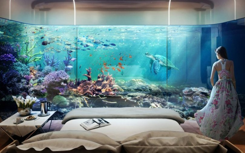 underwater master bedroom-in-floating-seahorse-yacht-charter