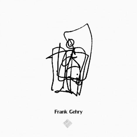 Frank Gehry's Style to draw Human scale