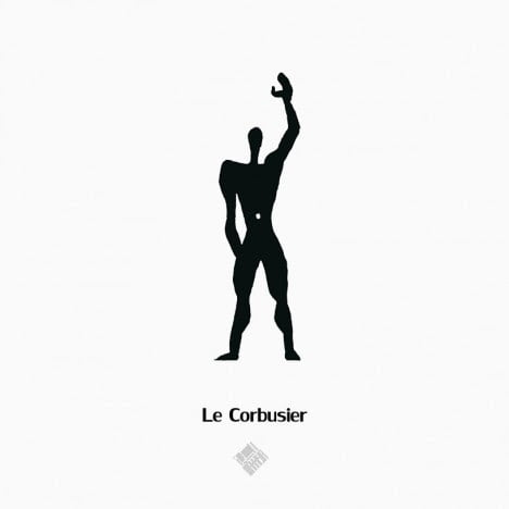 Le Corbusier's Style to draw Human scale