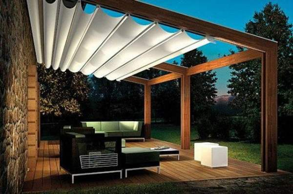 Patio Pergola with sun shade for summer