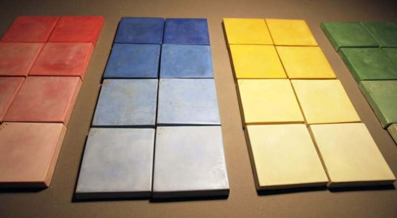 pigment and color studies for low cost modular homes