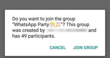 Latest WhatsApp Public Group Invite feature,