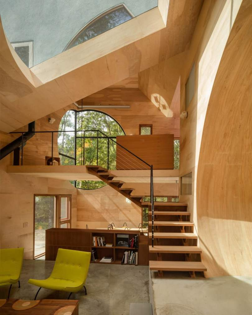 Geometric shapes in architecture and Interior.