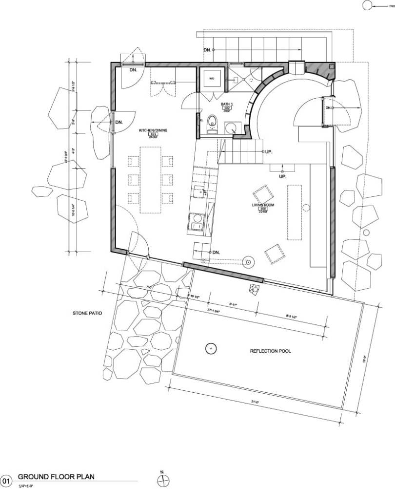 Example of geometric design Plan in architecture.