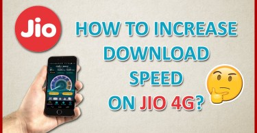 Increase Jio Speed,