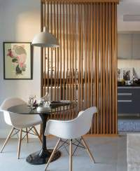 Room Dividers Ideas - Wooden partition wall Design for Home