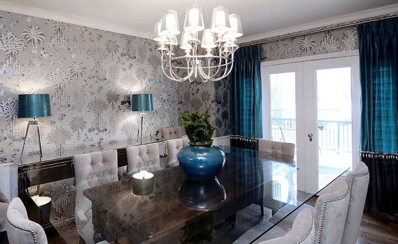 grey modern dining room table,