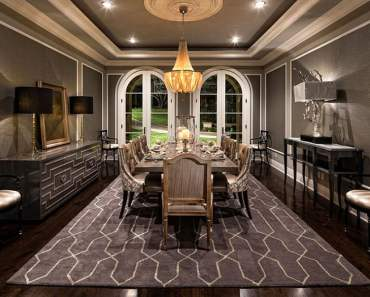 gray dining room,