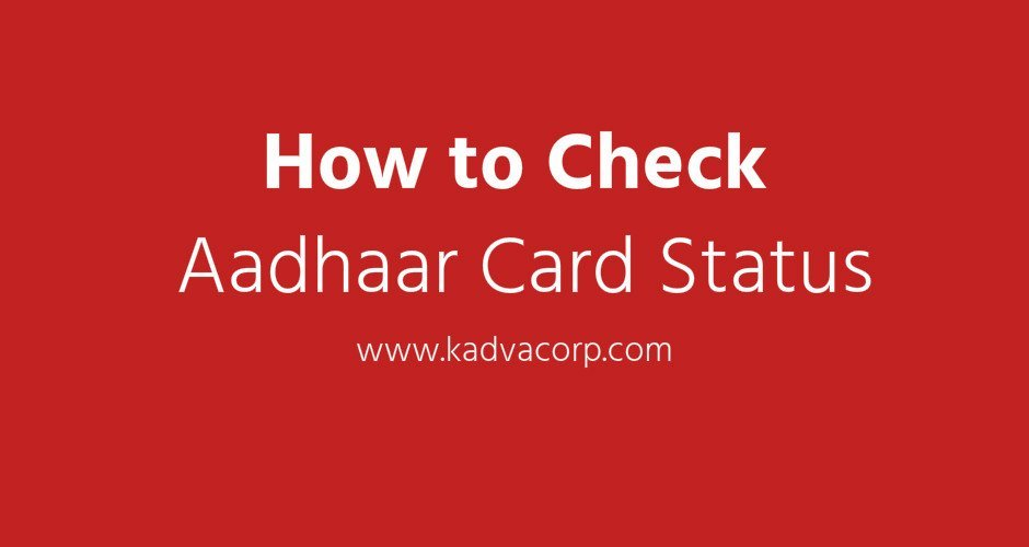 How to check aadhaar card status updates enquiry online or mobile
