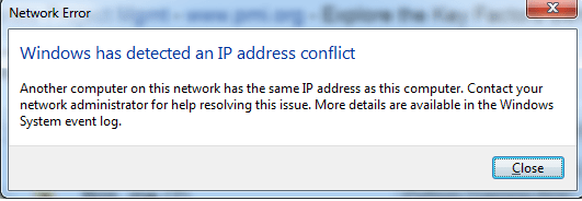 fix IP address conflict error,