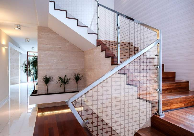 Acrylic Frosted Panels use in stair well,