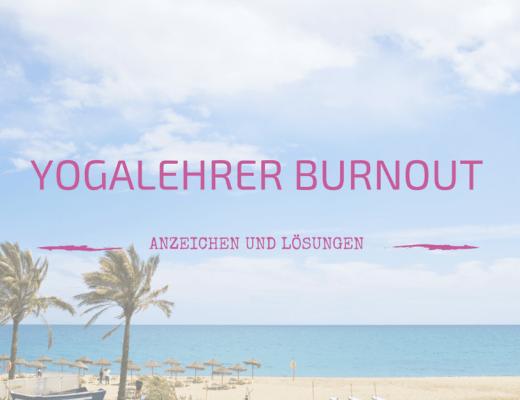 Yogalehrer Burnout