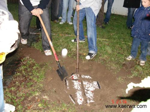 Ausgraben der Kirchweih