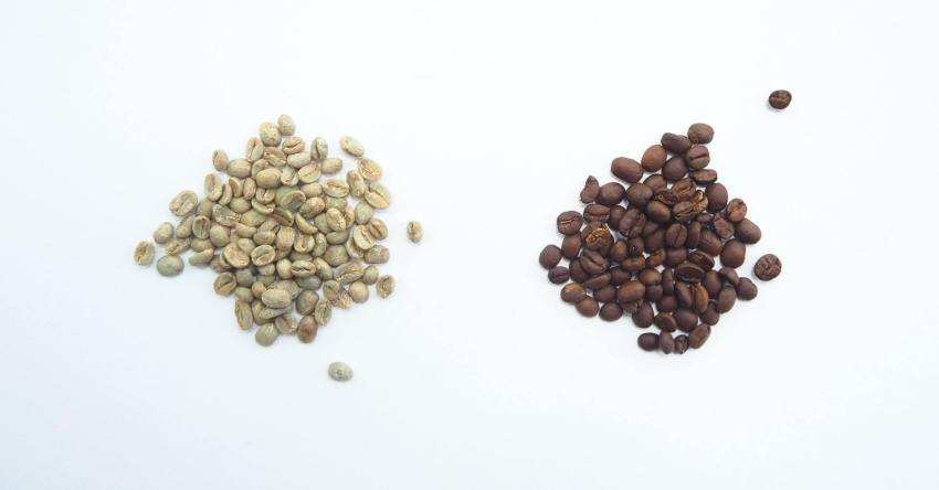 geröstet ungeröstet kaffeebohnen