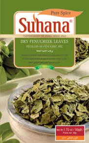 Dried fenugreek leaves via Suhana.co.in