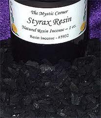 Styrax resin via themysticcorner.com