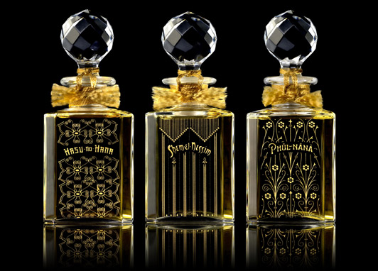 Grossmith's Baccarat set of the original fragrances, £23,250. Photo: Grossmith via The Telegraph newspaper.