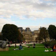 Chilling on the grass in the area between the Louvre and the Tuilerie gardens.