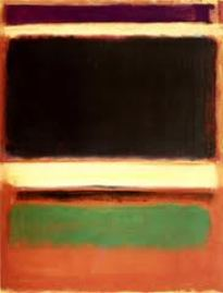 "Mark Rothko, "":'Magenta, Black, Green on Orange', 1947. Source: studyblue.com"