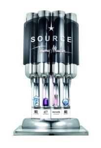 Mugler's The Source dispenser. Photo via Fragrantica.