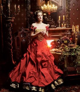 """Drew Barrymore, """"Beauty and the Beast,"""" U.S. Vogue, April 2005"""