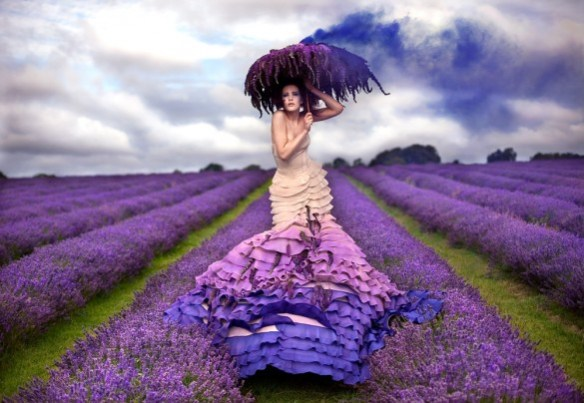 """The Lavender Princess."" Photo: Kirsty Mitchell. Source: http://www.kirstymitchellphotography.com/collection.php?album=5"